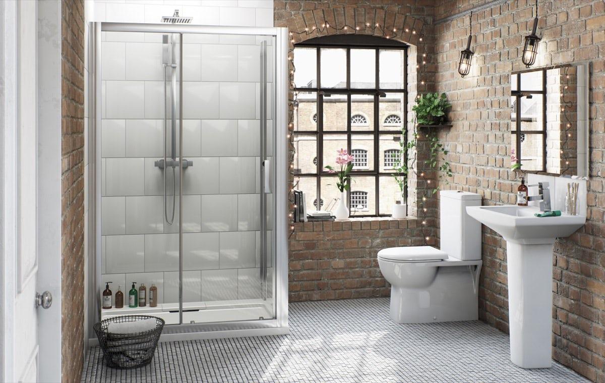 Earthy neutral bathroom