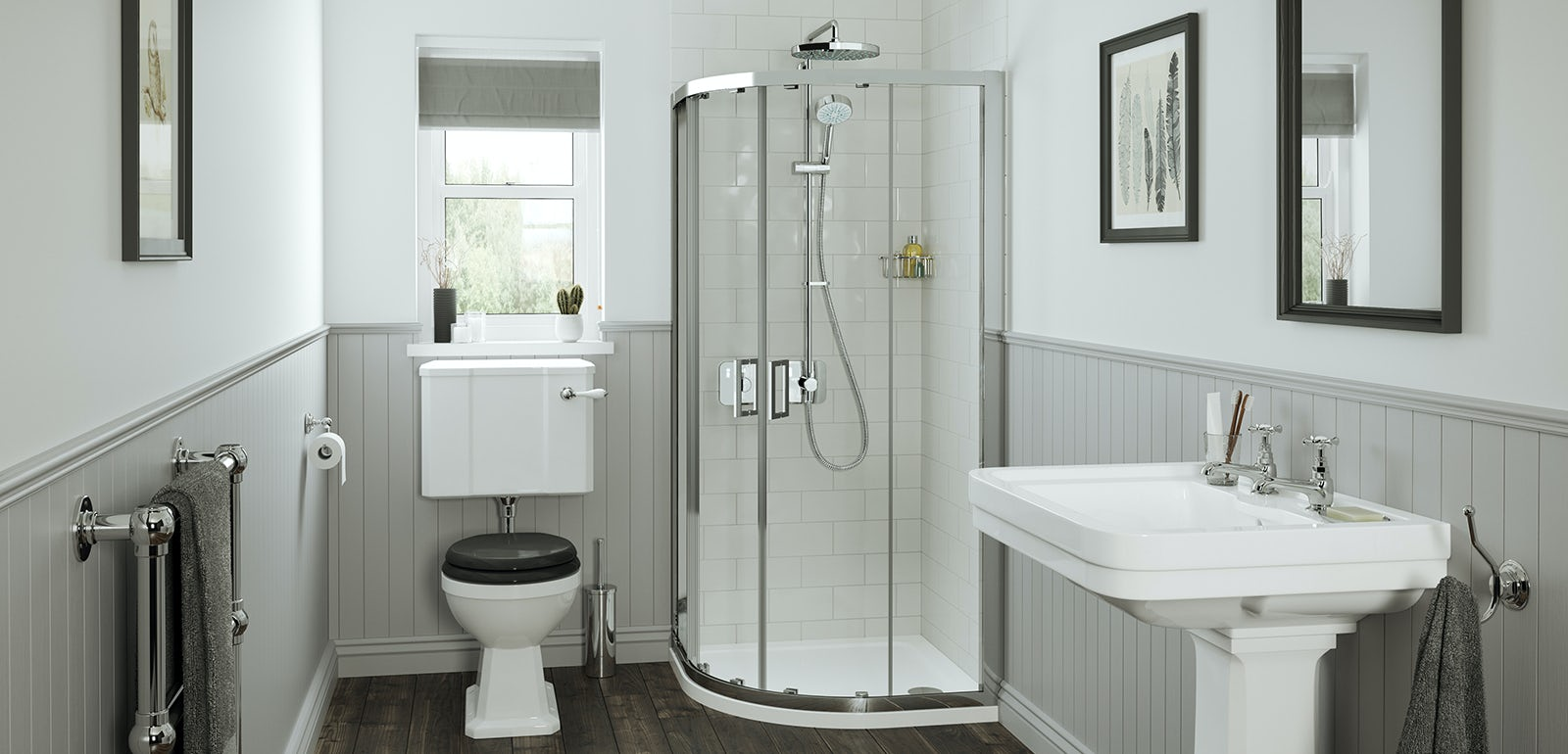 Small bathroom solutions from Mira Showers & Small bathroom solutions from Mira Showers | VictoriaPlum.com