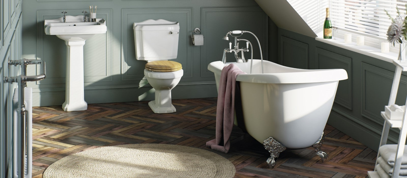 Pleasing Heritage Bathrooms How To Achieve Them On A Budget Theyellowbook Wood Chair Design Ideas Theyellowbookinfo