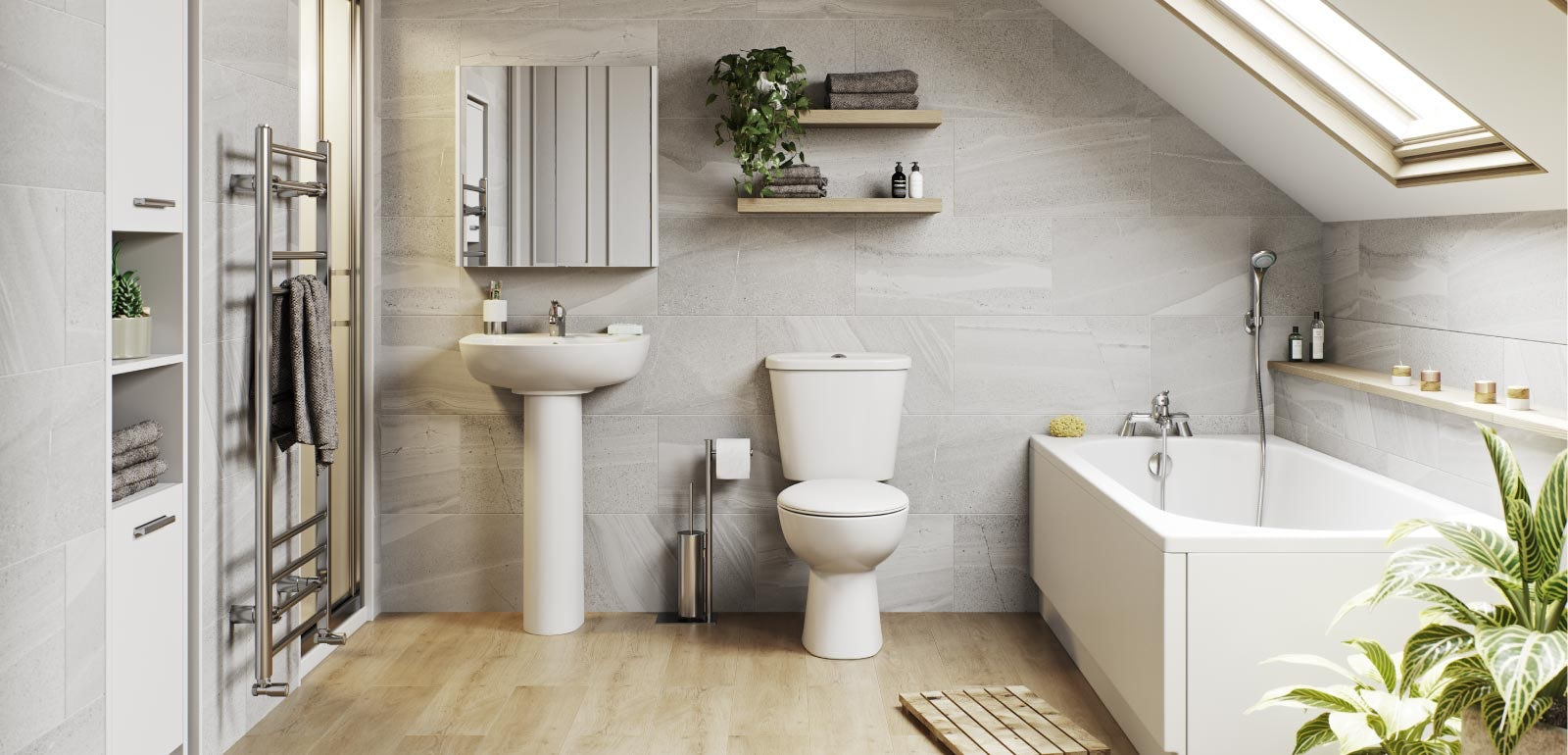 Under £700: A budget bathroom that's big on style
