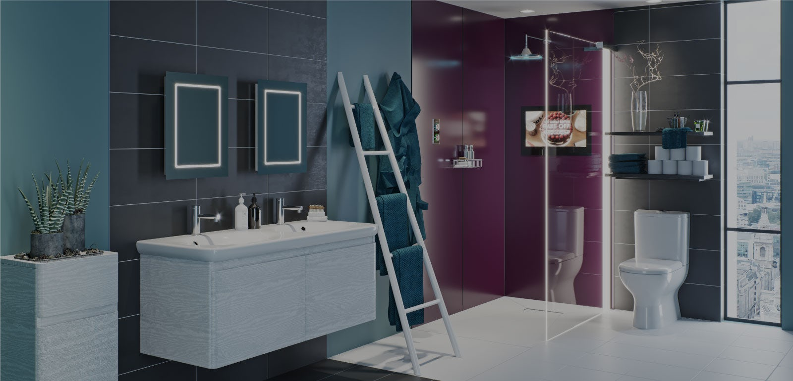Bathroom Ideas: Be Bold with Power-Up
