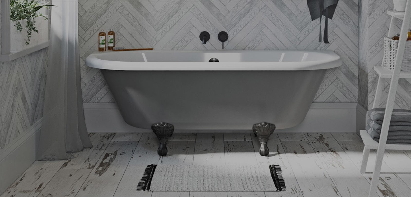 Newbury Traditional Back To Wall Roll Top Bath Suite At: Top Bathroom Picks For January 2019