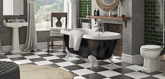 6 fun ideas for a striking bathroom floor
