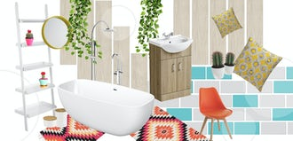 Colourful Creative bathrooms