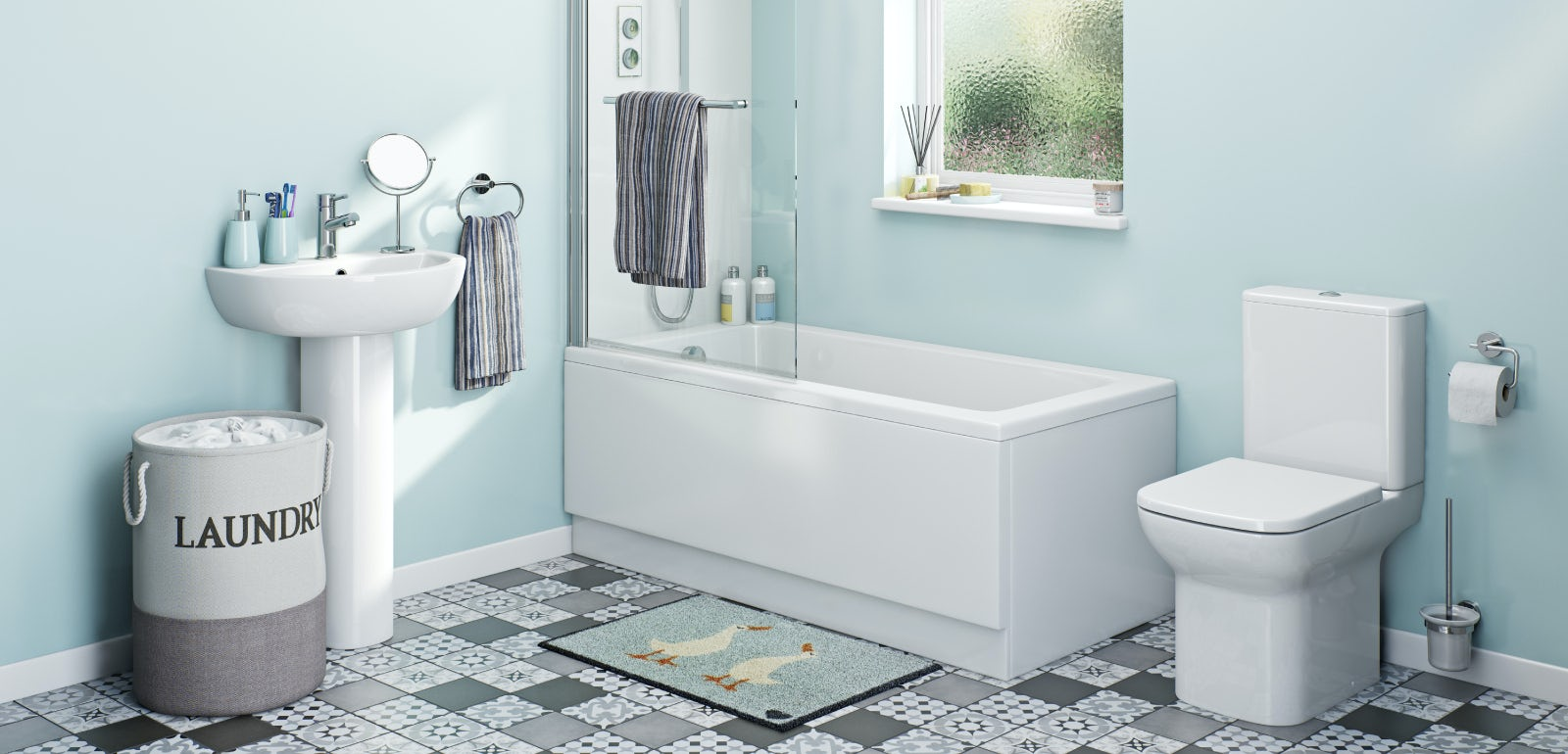 Refresh your bathroom for less than £150