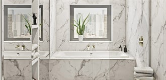 Add elegance to your bathroom with marvellous marble