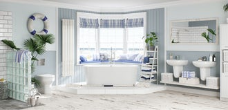 Bathroom ideas: Calming Coastal