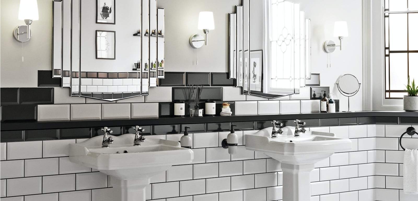 Art Deco bathroom ideas  VictoriaPlum.com