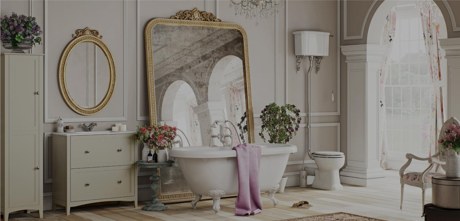 Win a wedding day bathroom makeover with VictoriaPlum.com