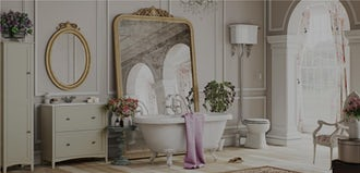 Win a wedding day bathroom makeover with VictoriaPlum.com