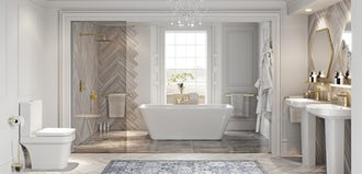 How to create a Hollywood Regency style bathroom
