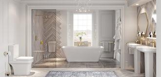 How to create a Hollywood Regency style bathroom