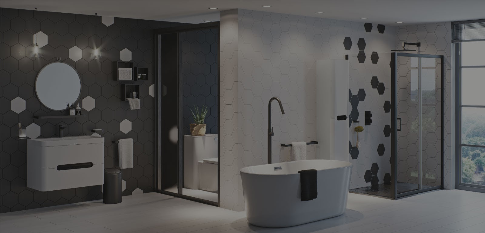 Bathroom Ideas: Be Bold with Maximum Monochrome