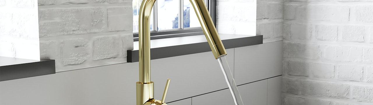 Bathroom Trends: New metallics