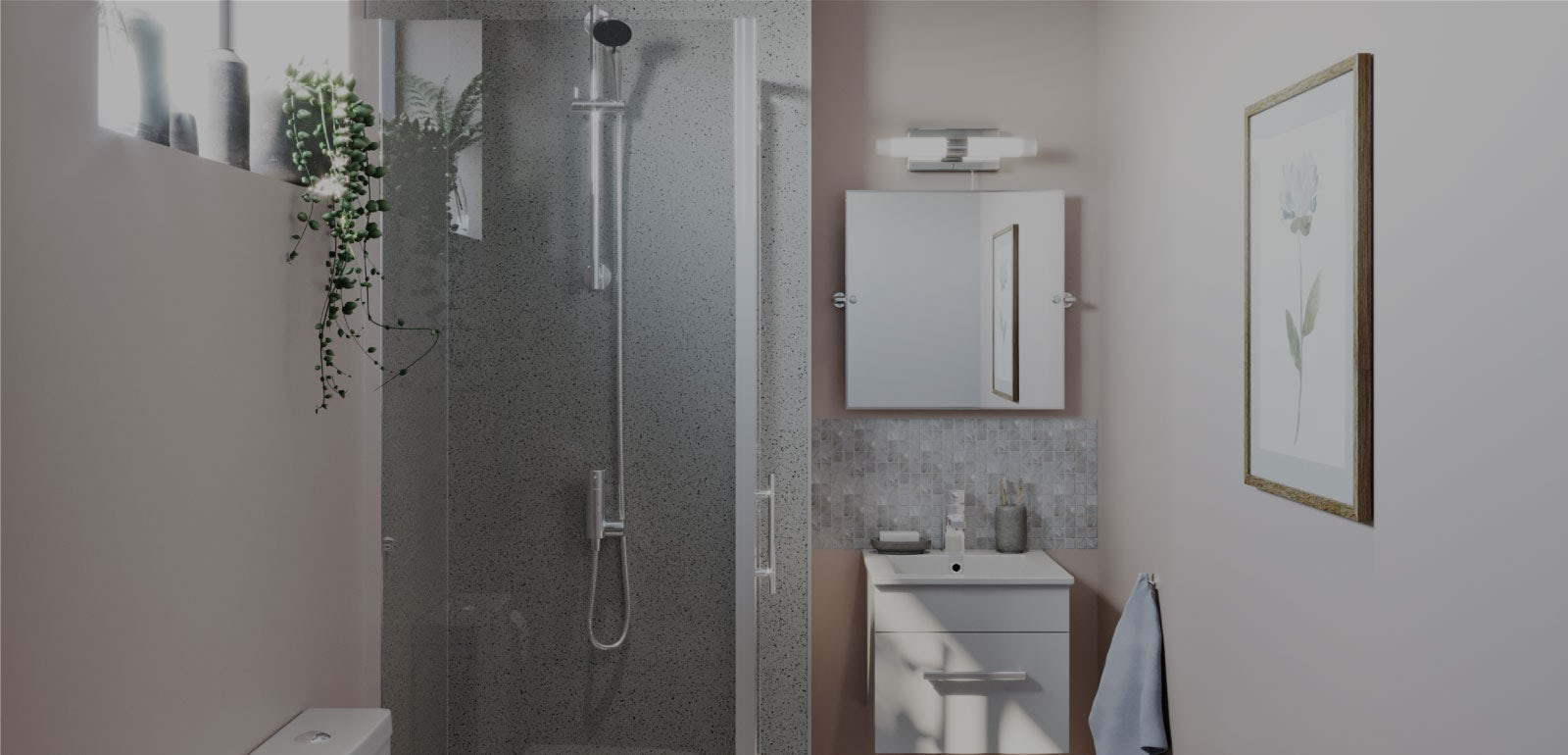 Small Spaces: Small bathroom colour ideas