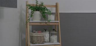 How to organise your bathroom ladder shelving