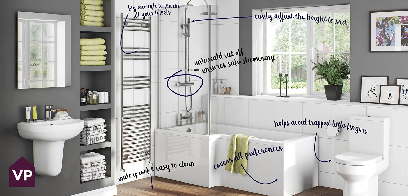 Create the perfect family bathroom