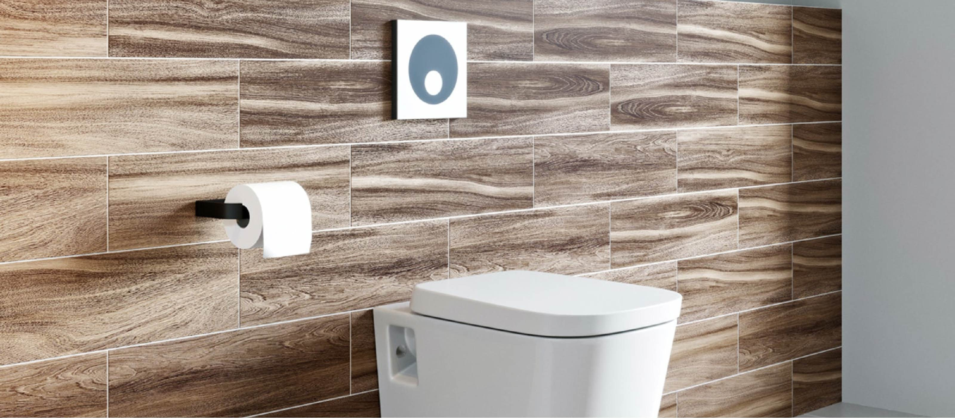Choosing an im-press-ive toilet flush button