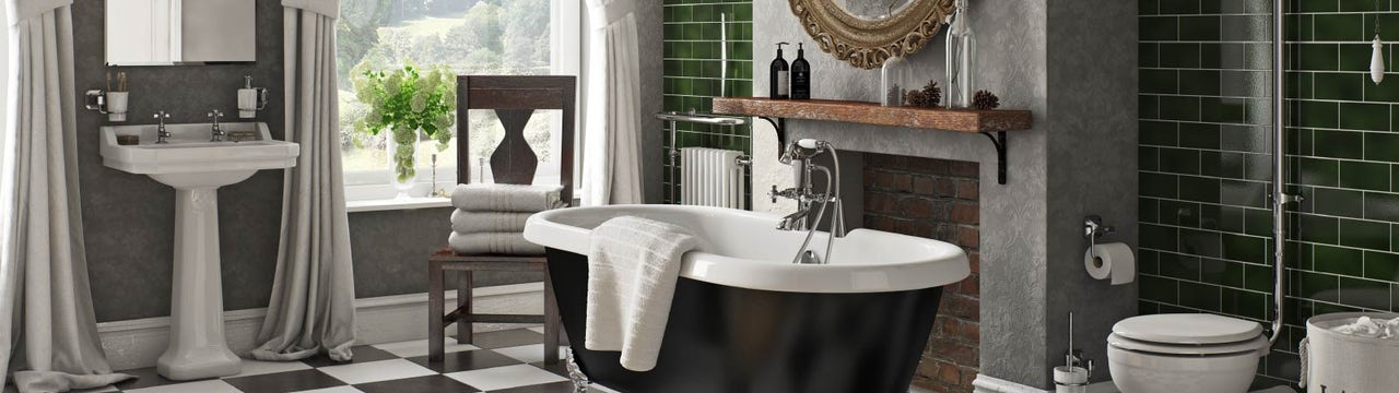 Check it out! 5 game-changing black and white floor tiles
