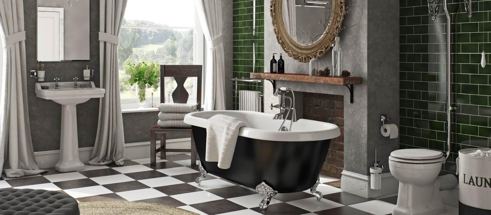 And White Floor Tiles, Black And White Bathroom Floor Tile Ideas