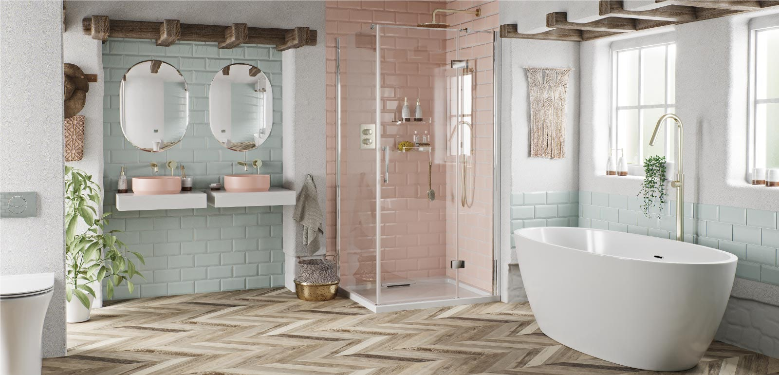 Bathroom Ideas: A Touch of Blush