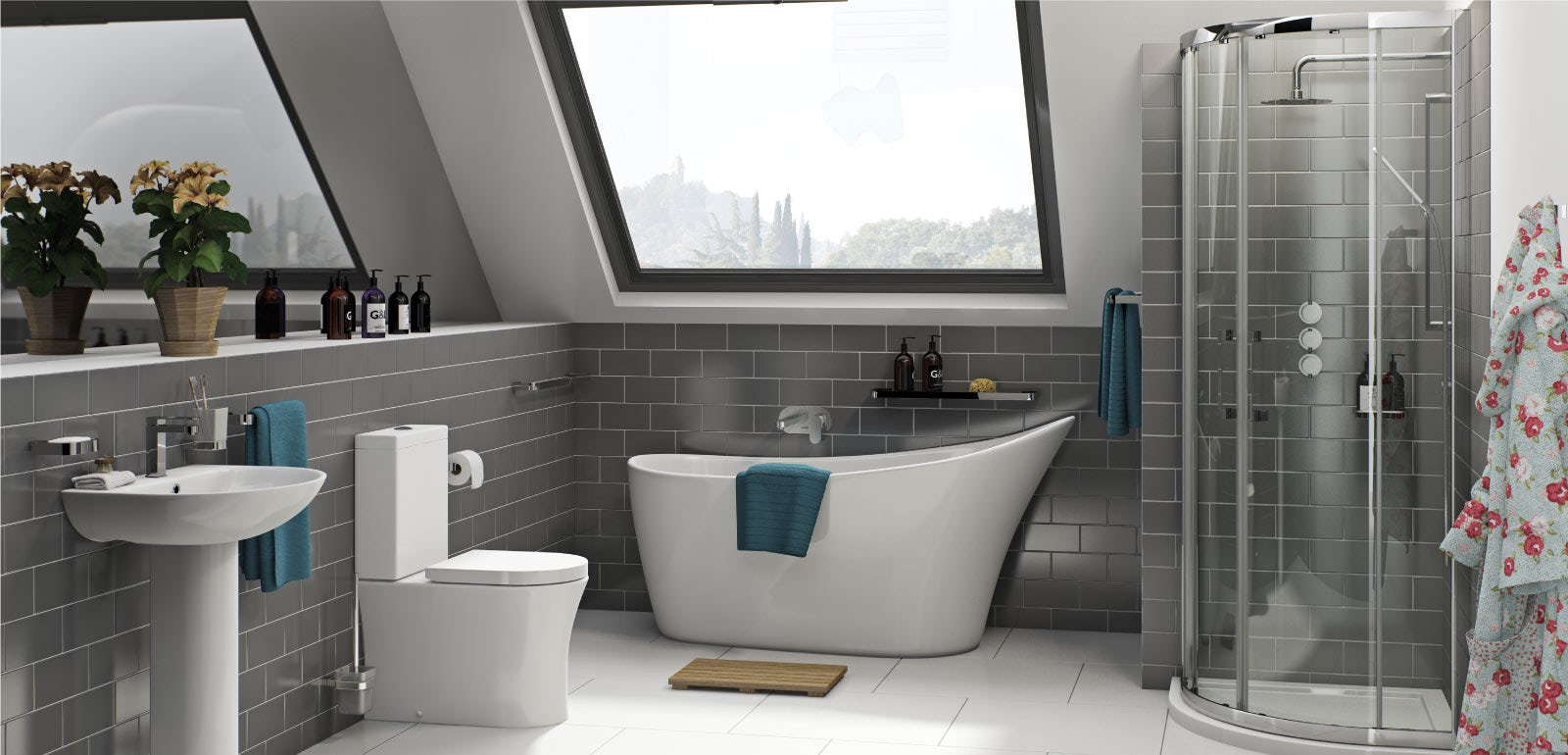 The only way is up! Live the high life with a lavish loft bathroom