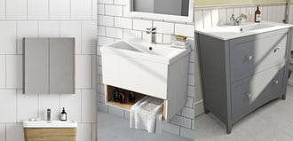 Save time & money with easy fit bathroom furniture
