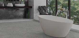 Create beautiful bathroom floors with new, easy-fit laminate and vinyl flooring