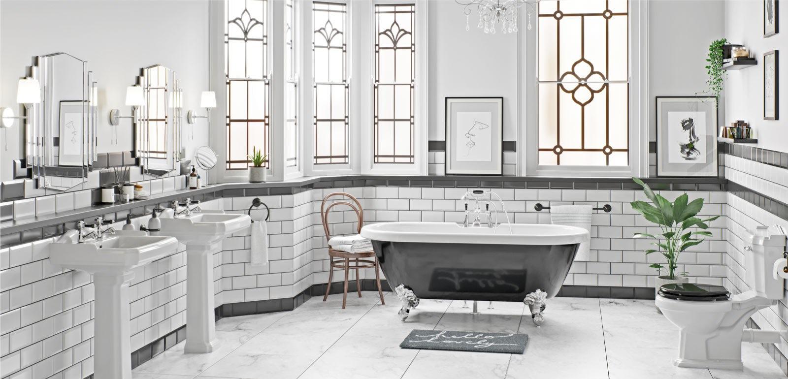 Chrome Finish Art Deco Countertop