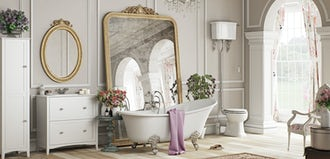 Bathroom ideas: French Floral
