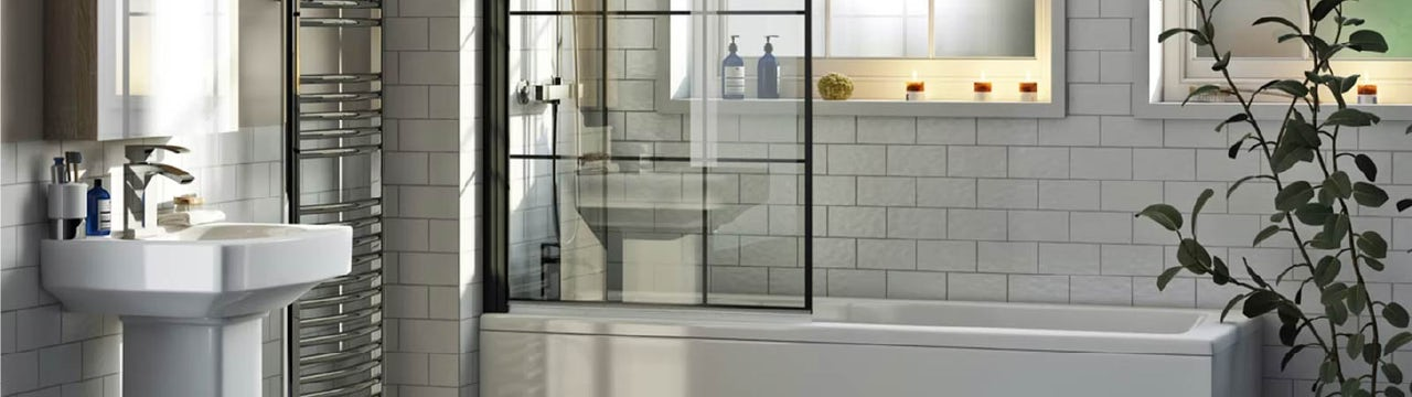 Save valuable space with a shower bath