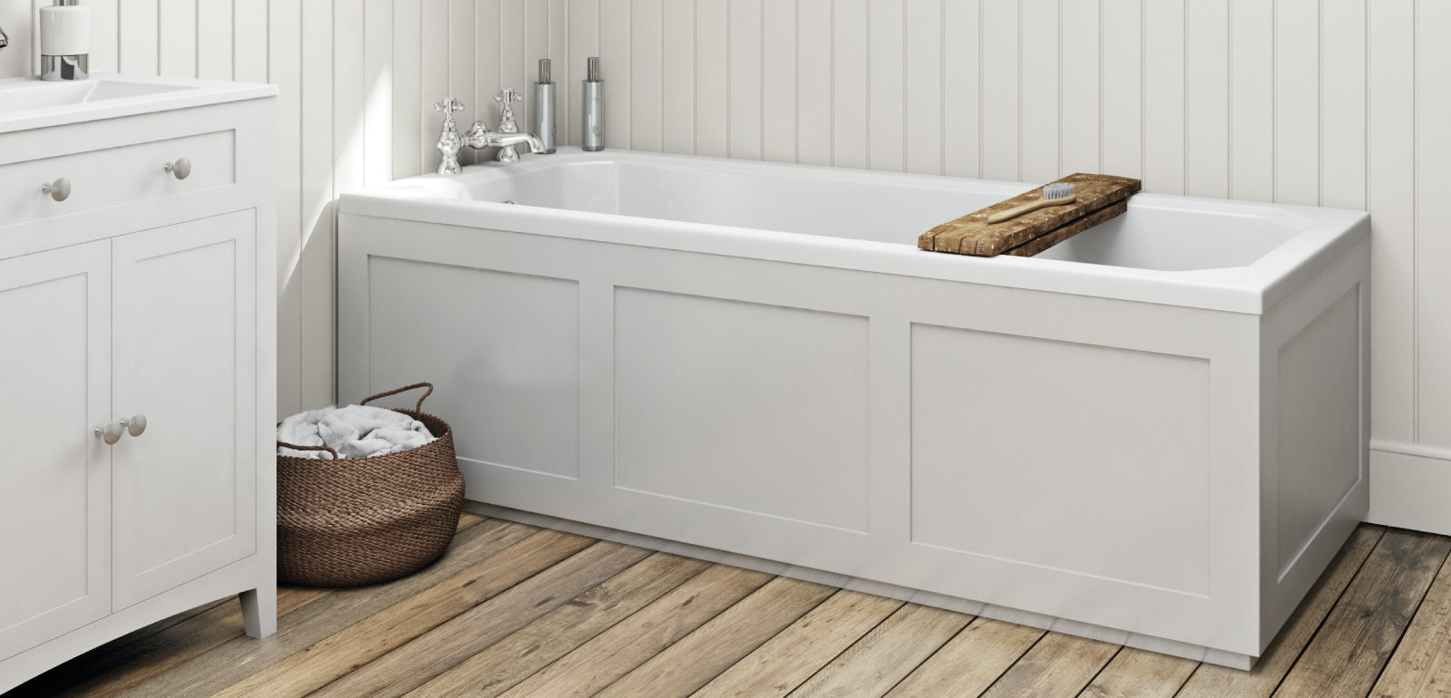 How to fit a wooden bath panel