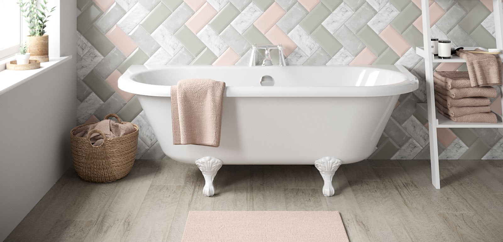 5 exciting and unusual ways to use tiles in your bathroom