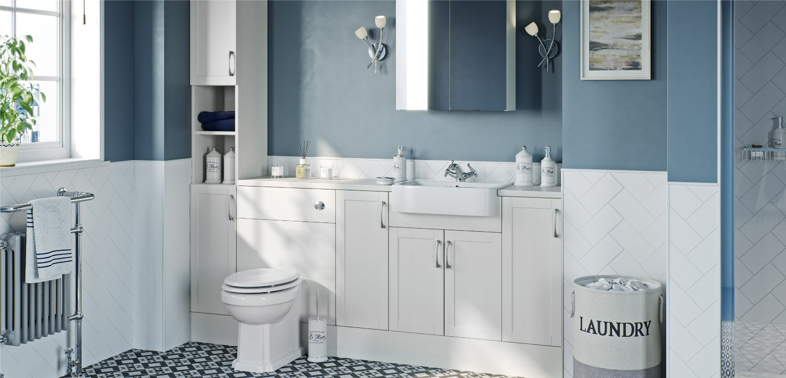 Fitted bathroom furniture: easy style and storage