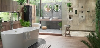 Bathroom ideas: Tropical
