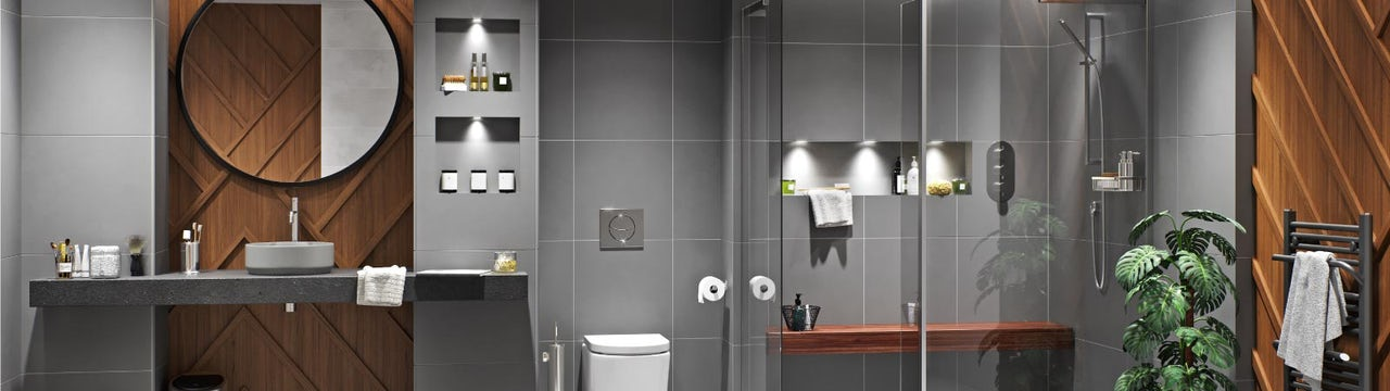 Bathroom Ideas: Dark Domain