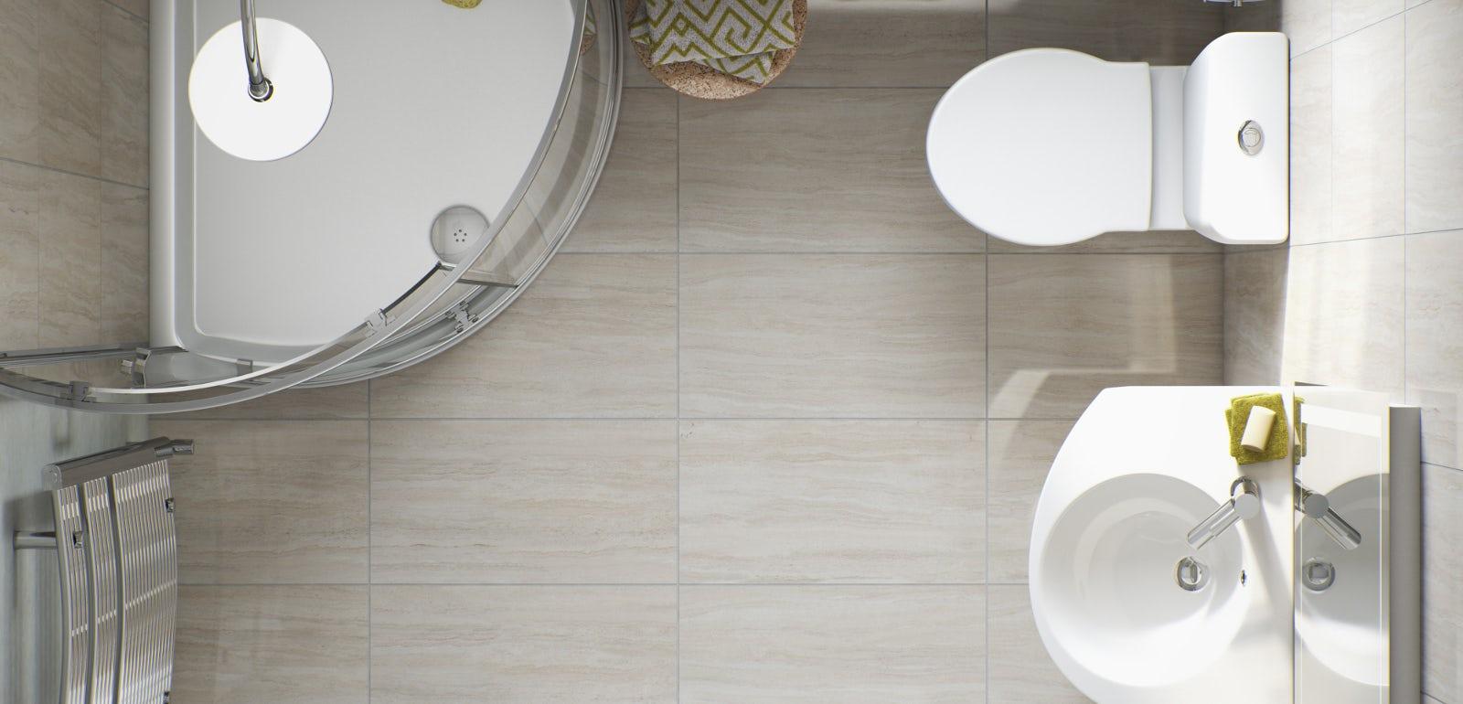 Simple Bathroom Layout Plans Free