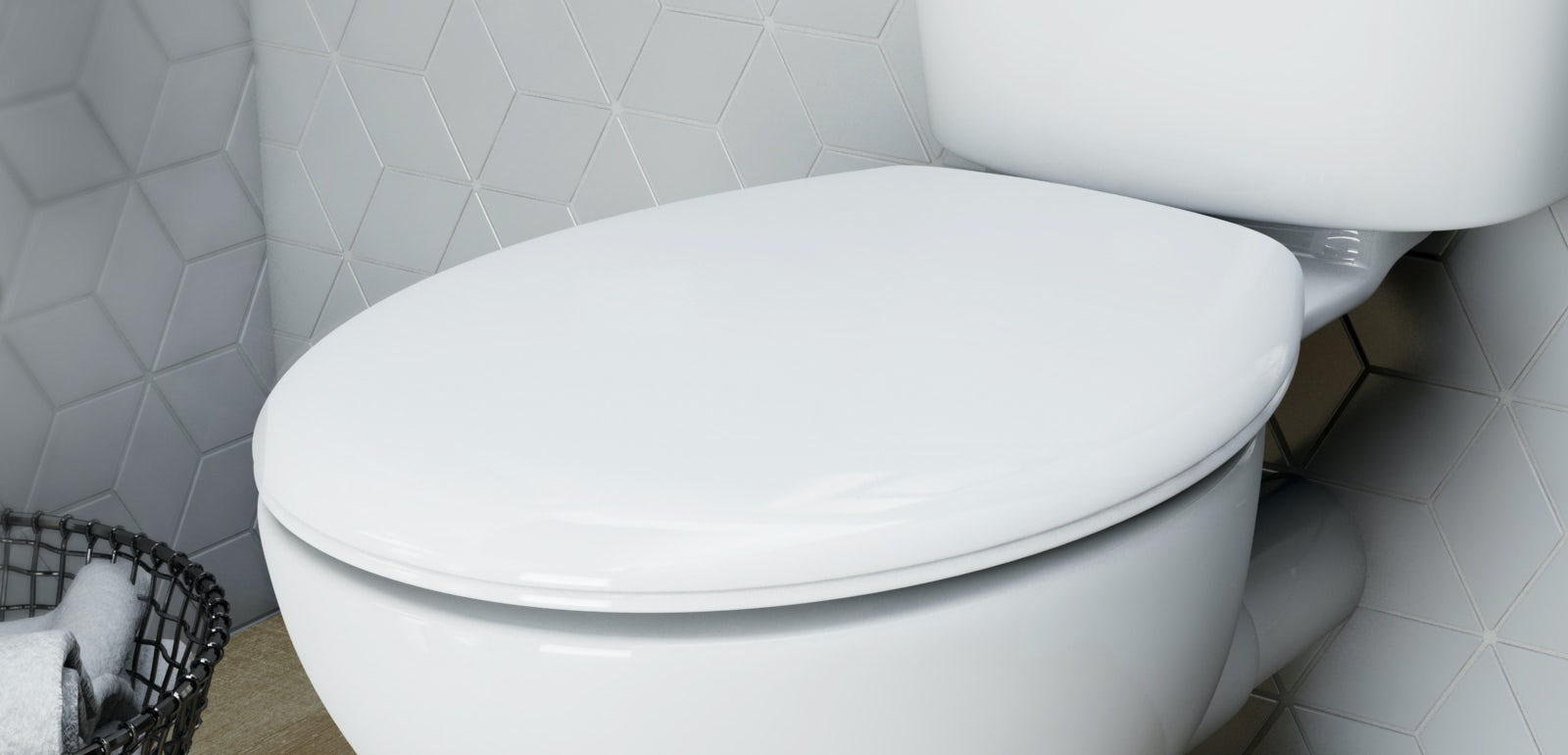 Wall-Hung Toilet with Soft-Close Seat Ceramic WC Pan Coupled Bathroom Quick BTW