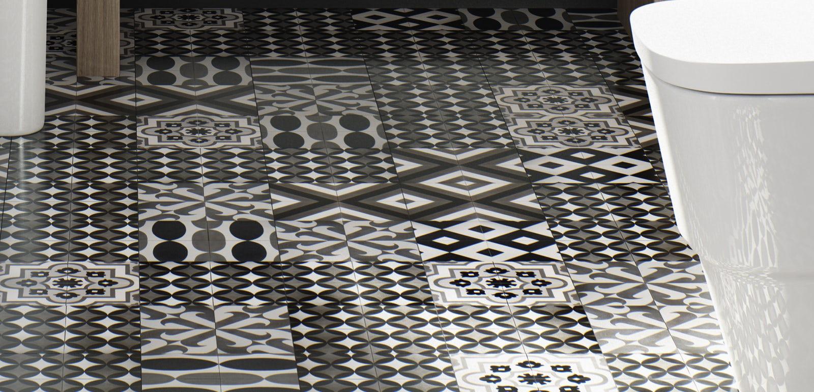 style art deco bathroom on a budget victoriaplum com rh victoriaplum com Vintage Floor Tile Patterns Vintage Floor Tile Patterns