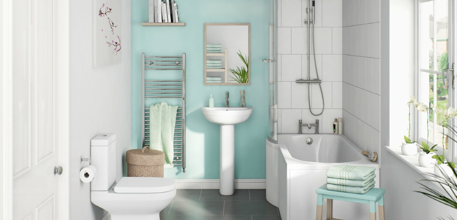 How to Choose the Colour of your Bathroom | VictoriaPlum.com