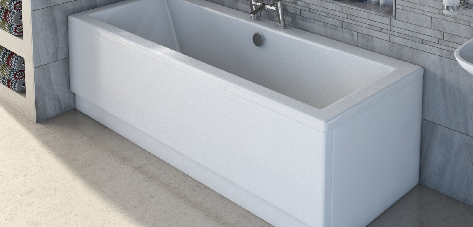 How to fit an acrylic bath panel | VictoriaPlum.com