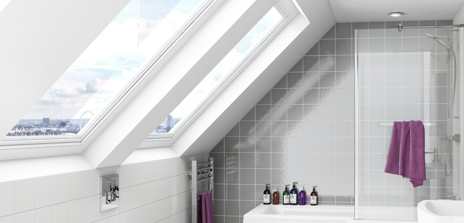 The Space Saving Boston Shower Bath | VictoriaPlum.com