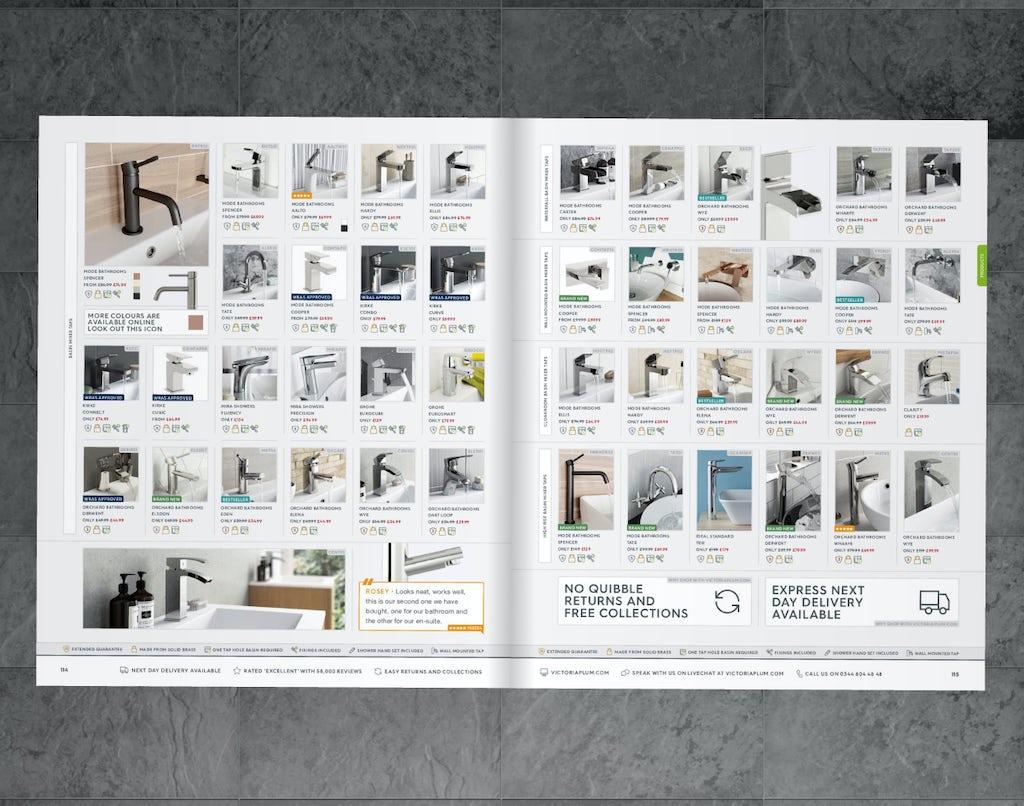VictoriaPlum.com catalogue pages