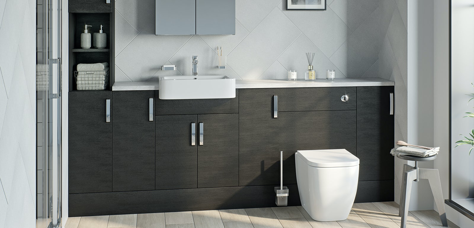 Nouvel quadro black fitted furniture