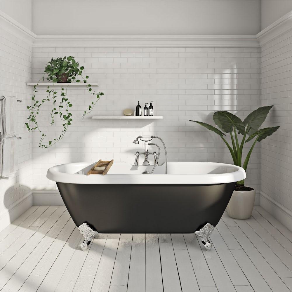 Shakespeare Freestanding Bath Black