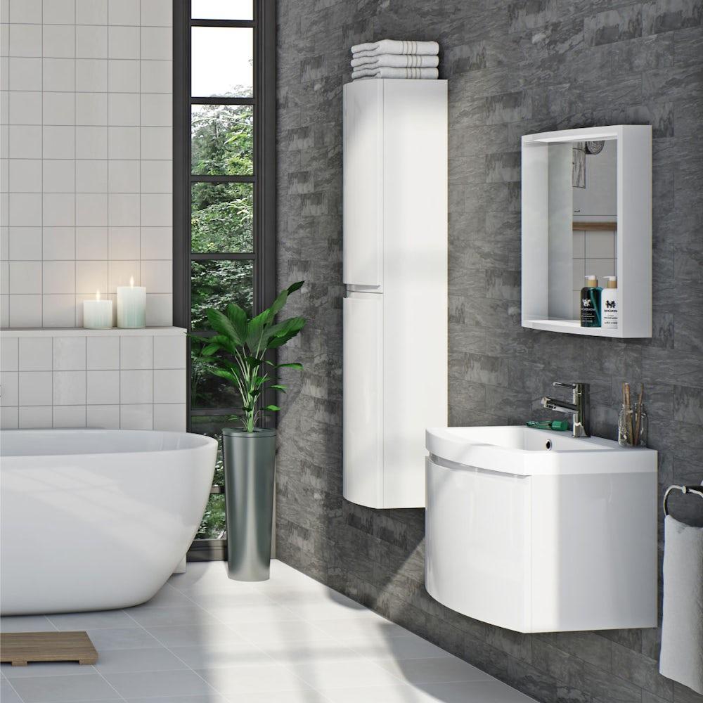 Curvaceous bathroom furniture range