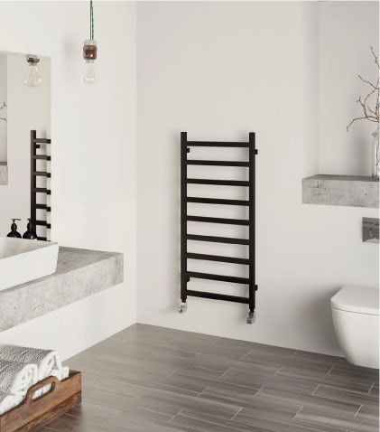 A Terma Simple heated towel rail