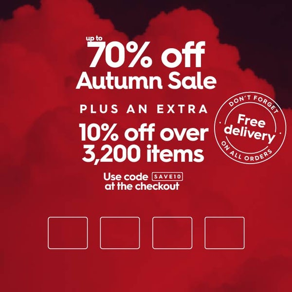 Up to 70% off Autumn Sale
