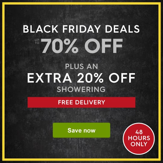 Up to 70% off Black Friday Deals + free standard delivery