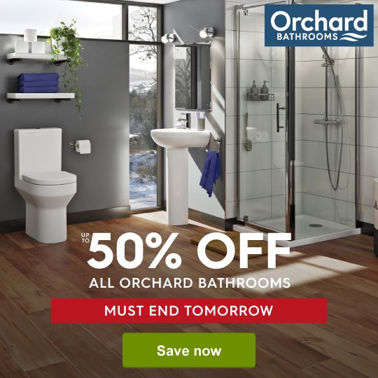 Up to 50% off Orchard Bathrooms